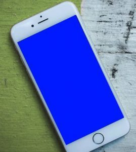 iphone pantalla azul