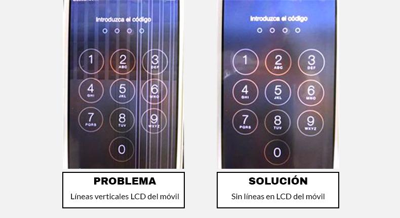 reparar lineas en iPhone