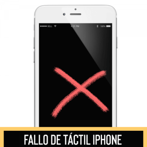 no funciona tactil iphone
