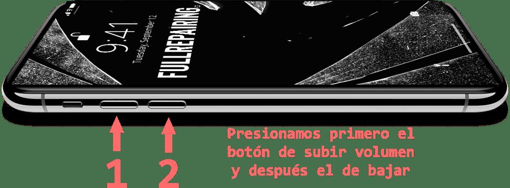 reiniciar iPhone x